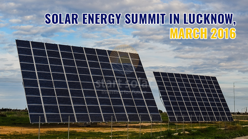 Solar Energy Summit in Lucknow, March 2016
