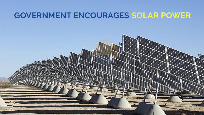 Government encourages Solar Power