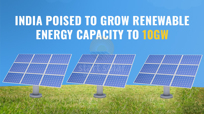 India poised to Grow Renewable Energy Capacity to 10GW