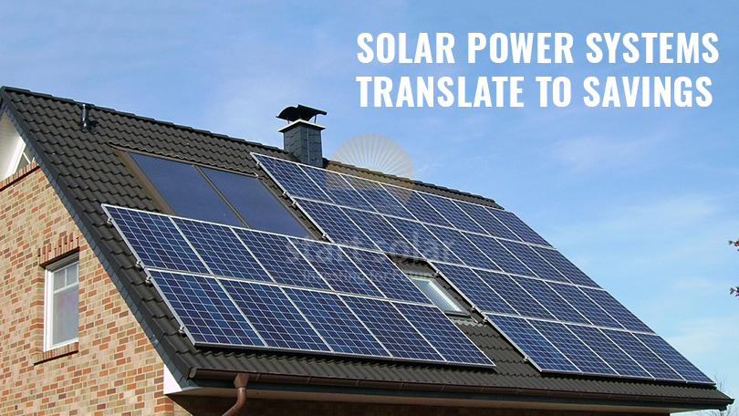 Solar Power Systems translate to Savings