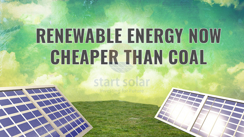 Renewable Energy now Cheaper than Coal